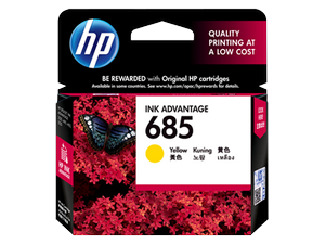 Mực in HP 685 Yellow Ink Cartridge (CZ124AA)